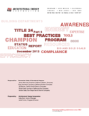 Title 24, Part 6 Compliance Best Practices Program Status Report - December 2013 thumbnail