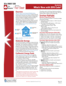 Fact Sheet: What's New:  2016 Residential Code thumbnail