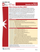 Fact Sheet: Residential Domestic Hot Water (DHW) 2016 thumbnail