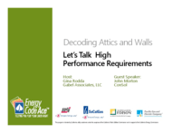 Decoding Attics and Walls: Let's Talk 2016 High Performance Requirements: Download Handout thumbnail
