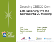 Decoding CBECC-Com: Let's Talk Energy Pro and Nonresidential 2D Modeling: Download Handout thumbnail