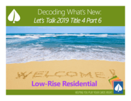 Decoding What's New: Let's Talk 2019 Title 24, Part 6 - Residential: Download the Handout thumbnail